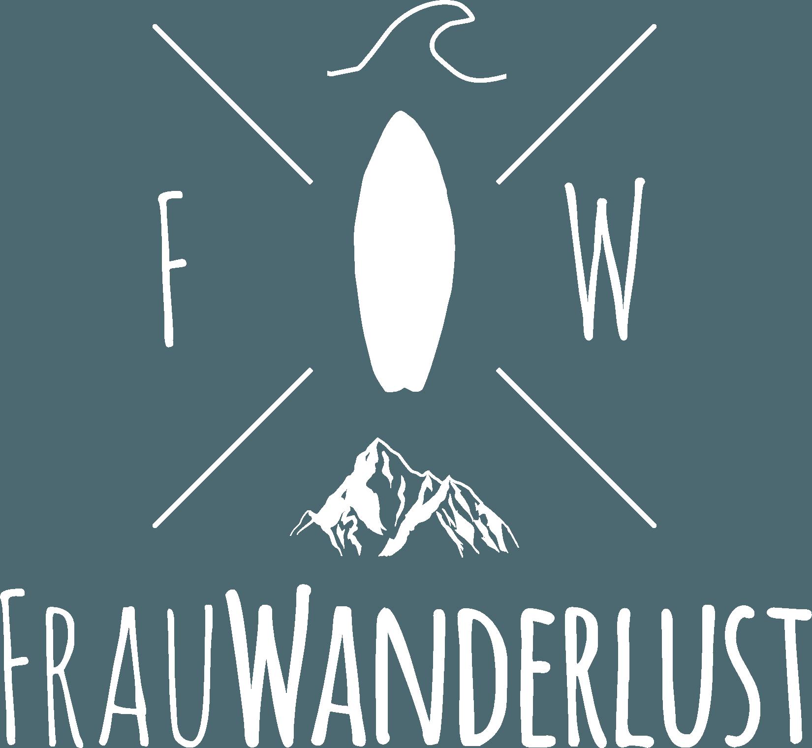 Frau Wanderlust Logo Schwarz Weiss