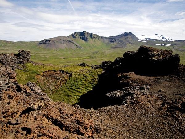 Toller Ausblick über den Krater Saxholl