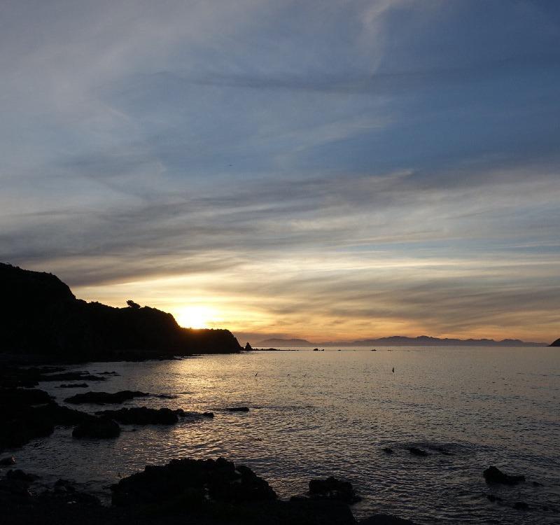 Sonnenuntergang in Wellington, Neuseeland