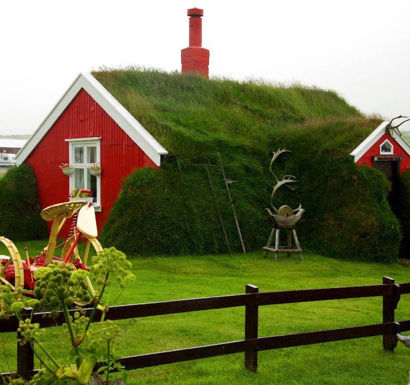 Kleines Haus am Borgarfjörður