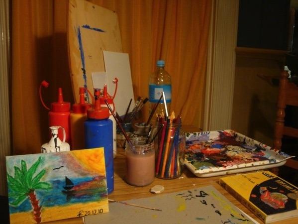 Kreativität beim Bild malen in Neuseeland