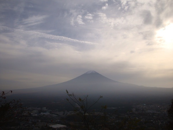 Mount Fuji in Japan in der Abendsonne