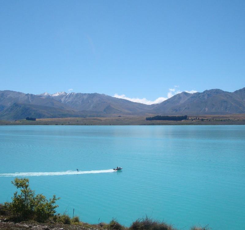 Ein einmaliges Blau am Lake Tekapo