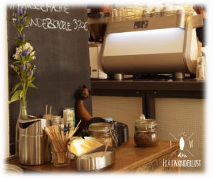 Ein Blick in das Café Heilandt