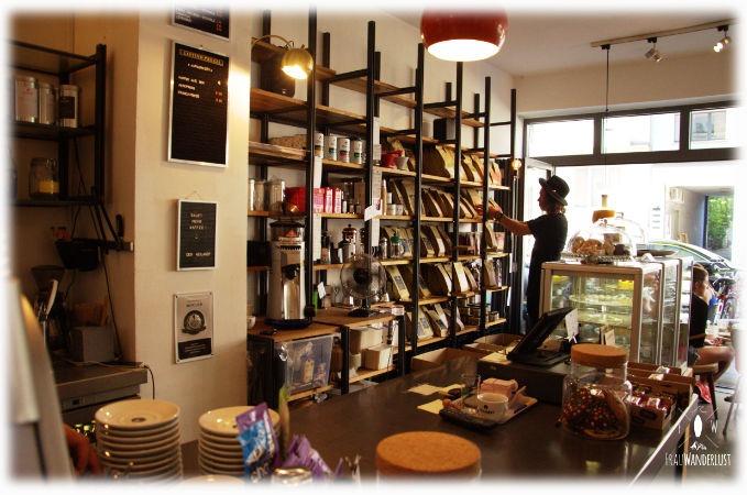Die Theke im Café Heilandt