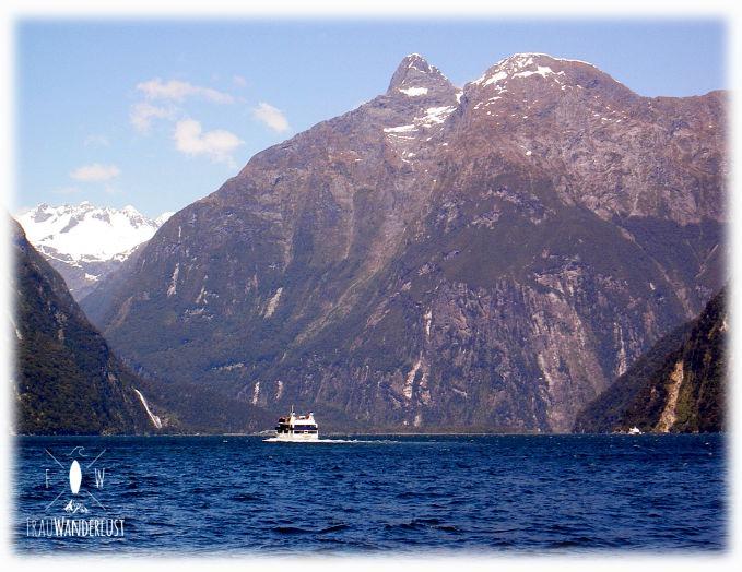 Blick über den Milford Sound