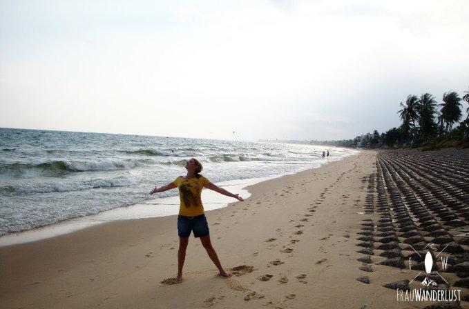 Ich stehe am Meer