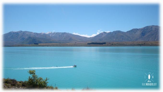 Ein Blick auf den Lake Tekapo
