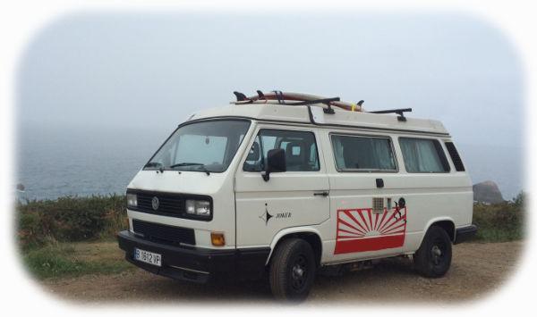 Der VW-Bus am Strand