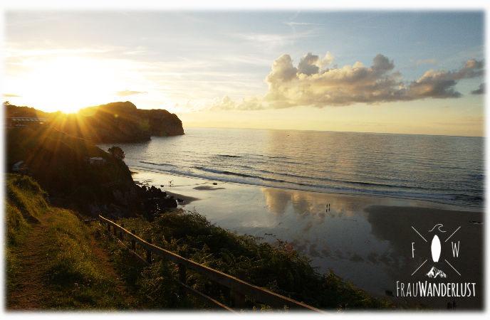 Sonnenuntergang am Playa de Vidiago
