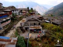 Kleine Ortschaft am Annapurna