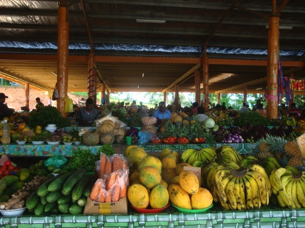 Obststand in Fiji