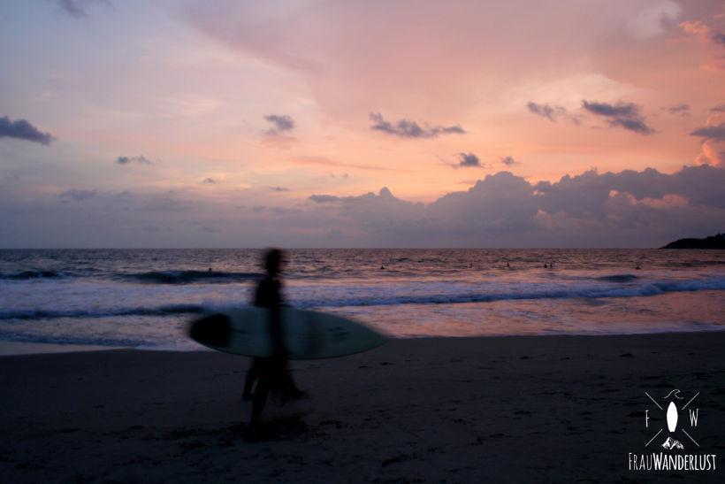 Auf Weltreise in Mexiko am Strand in der Abendsonne