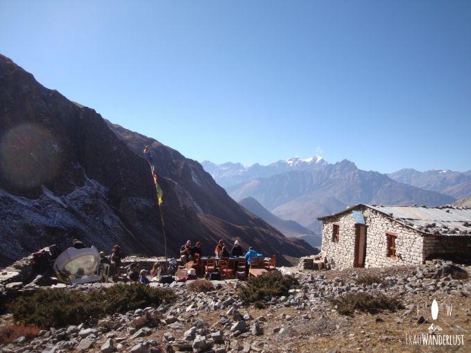Ein Tea House in den Bergen
