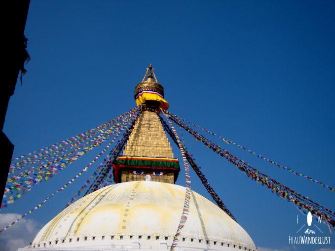 Bunter Tempel in Nepal
