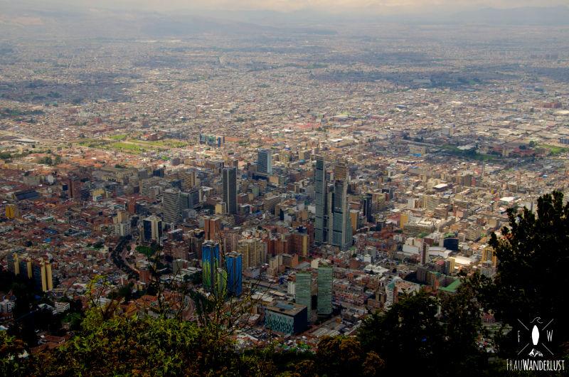 Bogotá, so weit das Auge reicht