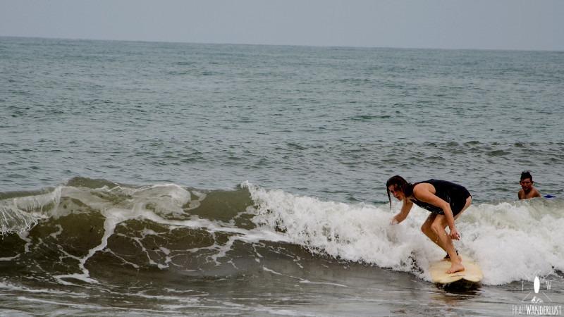 Norden Kolumbien: Surfen auf der Welle