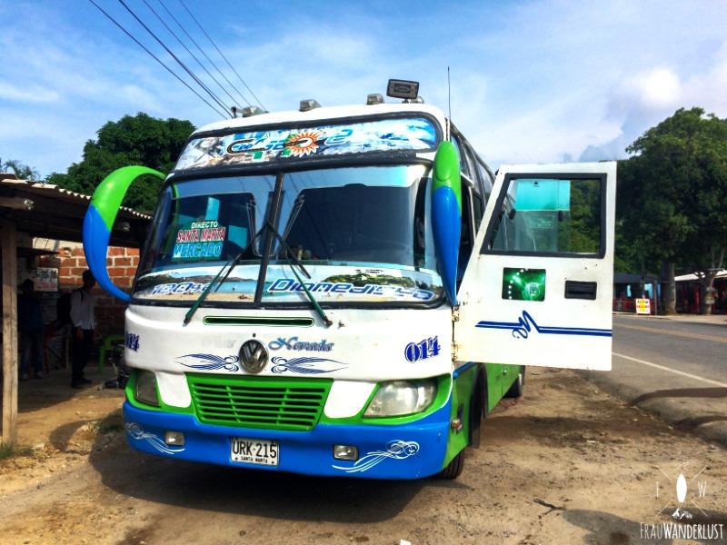 Norden Kolumbien: Busfahren