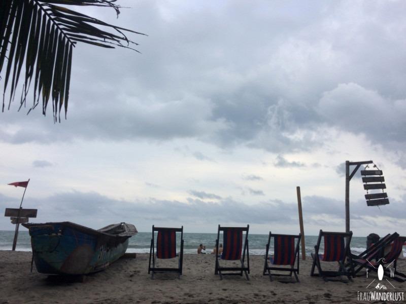 Norden Kolumbien: am Strand Palomino