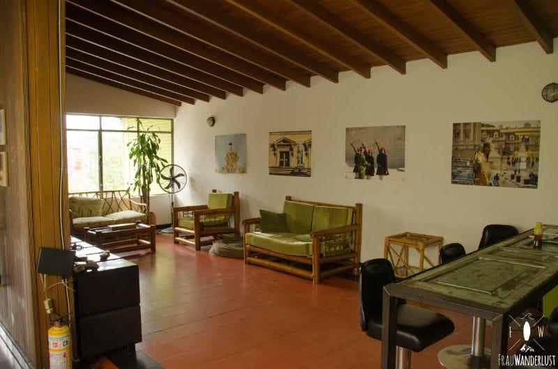 Medellin: Saman Hostel Wohnzimmer