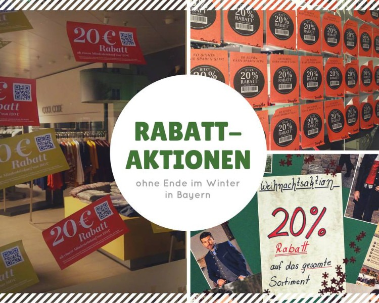 Zahlreiche Rabattaktionen ködern im Winter in Bayern