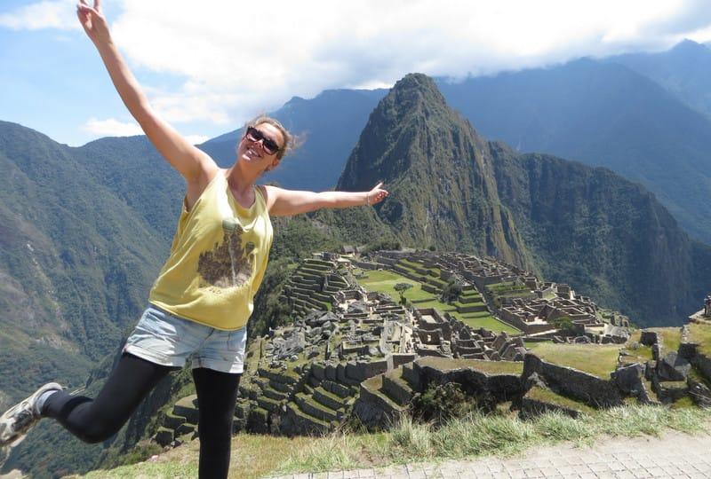 Job kündigen Weltreise: in Peru am Machu Picchu