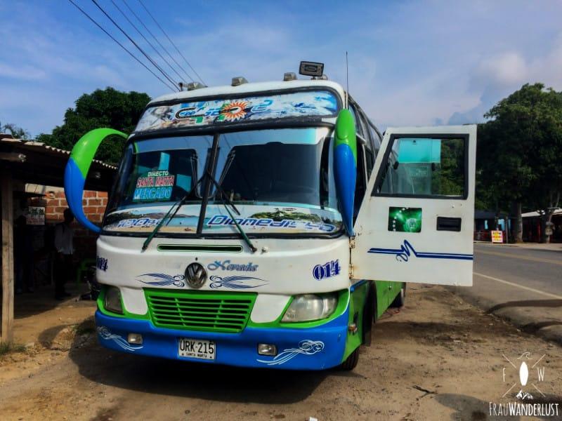 Gründe für Kolumbien: einfacherer Transport