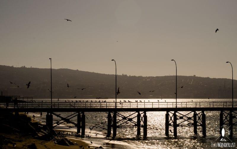 Valparaiso: Sonnenuntergang
