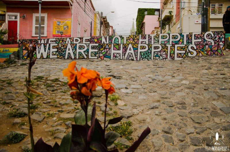 Valparaiso: bunte Kunst mitAussagekraft