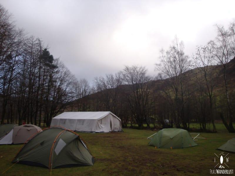 Unterkunft auf Reisen: Campen