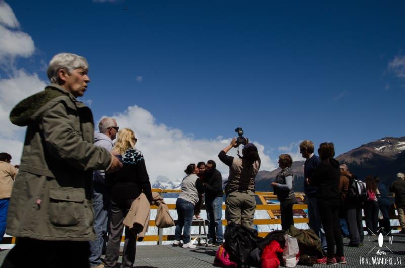 Patagonien auf eigene Faust: Menschenmassen am Gletscher