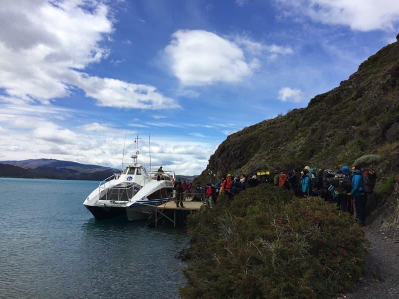 Torres del Paine für Anfänger - Fähre von Paine Grande