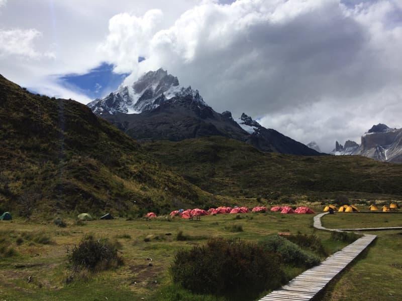 Torres del Paine für Anfänger: Zelt am Paine Grande