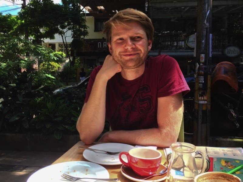 Beim Kaffee trinken in Medellin