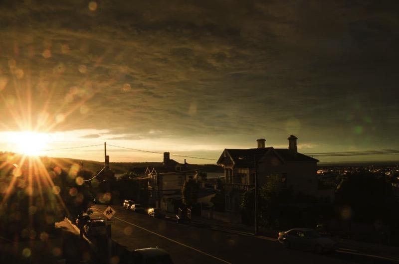 Sonnenaufgang in Dunedin.