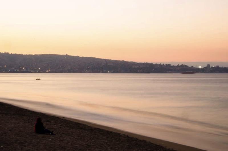 Sonnenuntergang in Valparaiso
