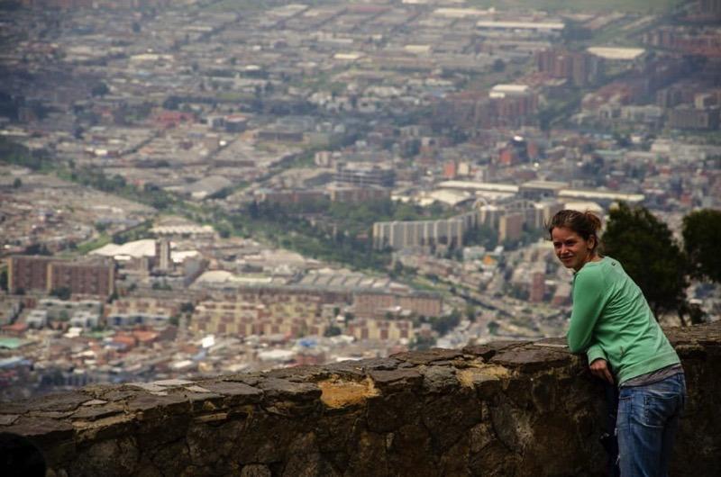 Auf Weltreise: Blick über Bogotá