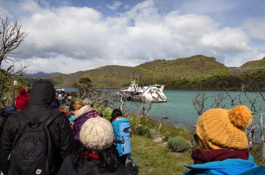 Torres del Paine für Anfänger: Abfahrt der Fähre