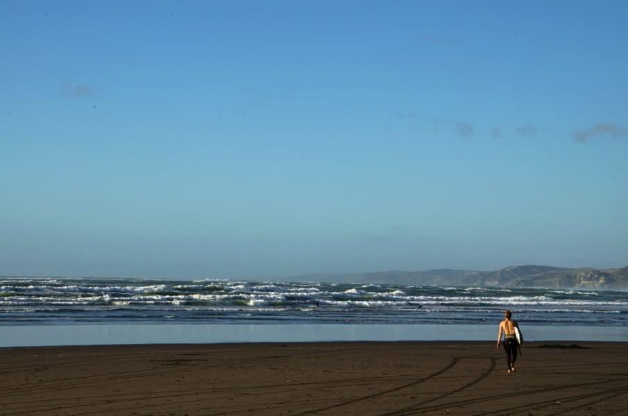 Surfen in Neuseeland: Raglan