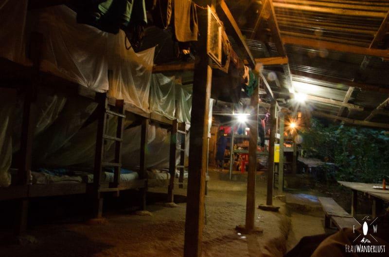 Nachtlager auf dem Weg nach oben