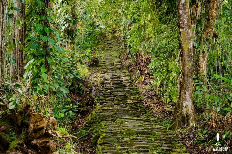 Verlorene Stadt: die letzten Treppen