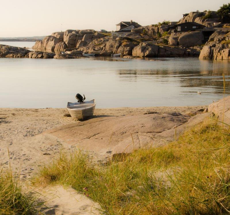 Skandinavien Rundreise mit dem Auto - hier liegt jedoch ein Boot