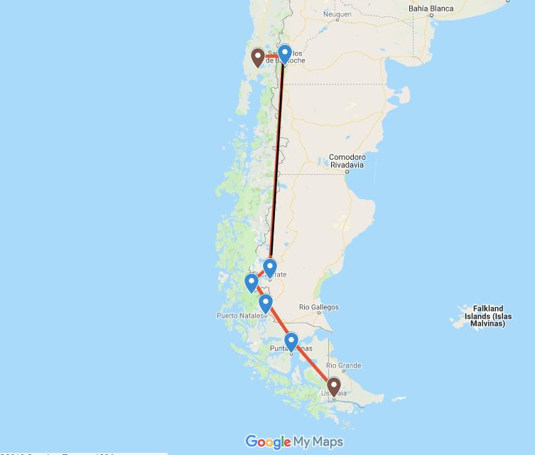Patagonien auf eigene Faust: Unsere Reiseroute.